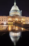 La nuit de construction de côté nord de capitol des USA tient le premier rôle le Washington DC Images stock