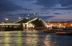 La nuit de Léningrad Photographie stock libre de droits