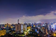 la nuit de la ville proserous Photographie stock libre de droits