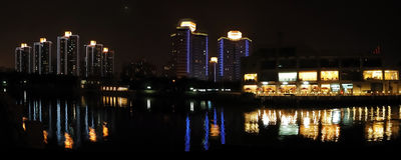 La nuit de Pékin Photos libres de droits
