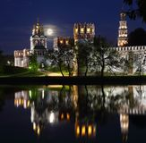 La nuit de pleine lune Photographie stock libre de droits