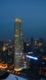 La nuit de Tianjin, la Chine Images libres de droits