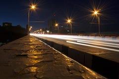 La nuit de ville Images libres de droits