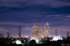 La nuit dernière à Bangkok Image libre de droits