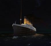 La nuit dernière de RMS Titanic Image libre de droits