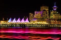 La nuit s'allume, Vancouver, Colombie-Britannique, AVANT JÉSUS CHRIST, Canada Photos libres de droits