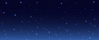 La nuit tient le premier rôle l'illustration de fond de ciel Papier peint étoilé de ciel de nuit foncée de galaxie illustration libre de droits