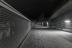 La nuit a tiré d'un pont à Ratisbonne, Bavière, Allemagne photographie stock libre de droits