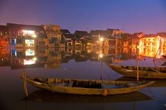 La nuit a tiré de Hoi. Le Vietnam Photos stock