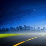 La nuit vient Photo libre de droits