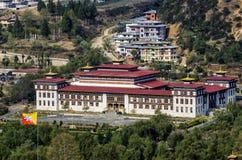 La nuova costruzione del Parlamento a Thimphu, Bhutan Fotografia Stock Libera da Diritti