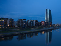 La nuova costruzione della banca centrale europea acquartiera nel franco Immagine Stock