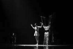 La nuova identità dei vestiti- del burattino del dramma di ballo di mistero-tango Fotografie Stock Libere da Diritti