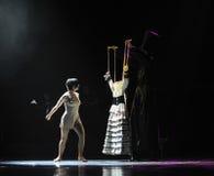 La nuova identità dei vestiti- del burattino del dramma di ballo di mistero-tango Fotografie Stock