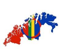 La nuova mappa di Finnmark fotografia stock libera da diritti