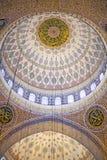 La nuova moschea (Yeni Valide Camii), un'architettura interna della moschea imperiale dell'ottomano a Costantinopoli, Turchia, di fotografia stock