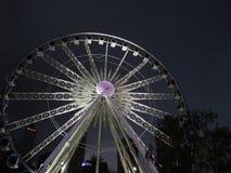 La nuova ruota di Perth alla notte Fotografie Stock Libere da Diritti