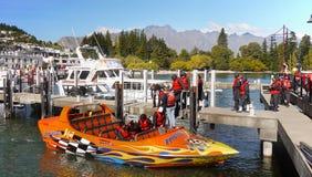 La Nuova Zelanda, avventura, Jet Boat Ride Fotografia Stock Libera da Diritti