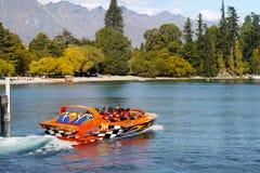 La Nuova Zelanda, avventura, Jet Boat Ride Immagini Stock Libere da Diritti