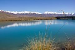 La Nuova Zelanda, lago vicino a twizel Immagini Stock