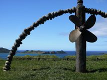 La Nuova Zelanda: Memoriale di Rainbow Warrior della baia di Matauri Fotografia Stock Libera da Diritti
