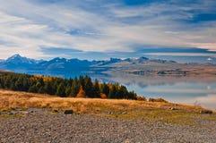 La Nuova Zelanda. Paesaggio della montagna Immagine Stock