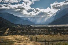 La Nuova Zelanda, passaggio del ` s di Arthur del maltempo Fotografie Stock Libere da Diritti