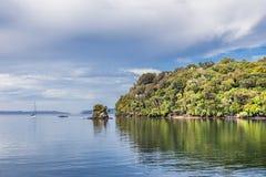 La Nuova Zelanda, Stewart Island, Patterson Inlet: 16 febbraio 2016 Fotografia Stock