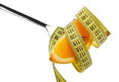 La nutrición sana, pierde concepto del peso fotografía de archivo