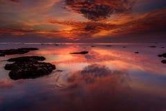 La nuvola bruciante Fotografie Stock