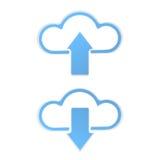 La nuvola si carica e scarica royalty illustrazione gratis