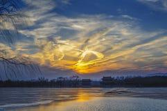 La nuvola di D sopra Pechino Fotografia Stock