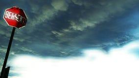 La nuvola pesante fotografie stock