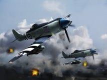 La O.N.U de los aeroplanos (furia del mar del vendedor ambulante) Fotografía de archivo libre de regalías