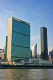 La O.N.U establece jefatura, Manhattan, Nueva York, vertical Foto de archivo