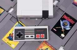La obra clásica de Nintendo y el juego video retro imágenes de archivo libres de regalías