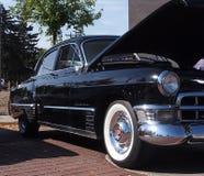 La obra clásica restauró 1949 Cadillac negros Imagen de archivo libre de regalías