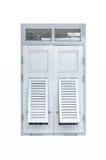 La obra clásica retra de las ventanas de madera viejas para adorna la casa Fotos de archivo