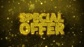 La oferta especial desea la tarjeta de felicitaciones, invitación, fuego artificial de la celebración