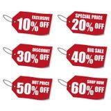 La oferta especial etiqueta muestras Vector Eps10 stock de ilustración