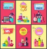 La oferta especial para los cosméticos y Skincare significa libre illustration