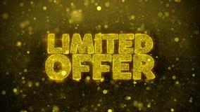 La oferta limitada desea la tarjeta de felicitaciones, invitación, fuego artificial de la celebración libre illustration