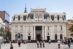 La oficina de correos que construye a Santiago de Chile Foto de archivo