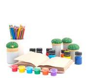 La oficina para la escuela de la creatividad Foto de archivo