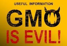 La OGM es malvada Fotografía de archivo libre de regalías