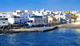 El Cotillo i La Oliva, Fuerteventura, kanariefågelöar, Spanien Royaltyfri Bild