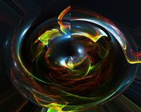 La onda abstracta del color del fractal remolina efecto creativo de la elegancia, ornamento vibrante decorativo del dise?o libre illustration
