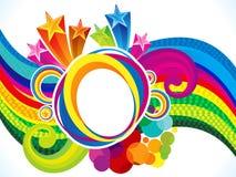 La onda artística abstracta del arco iris estalla el fondo Fotografía de archivo libre de regalías