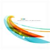 La onda azul, anaranjada, roja del remolino alinea Diseño ligero Fotografía de archivo libre de regalías