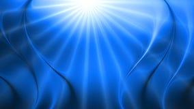 La onda brillante azul abstracta 3d alinea el fondo ilustración del vector
